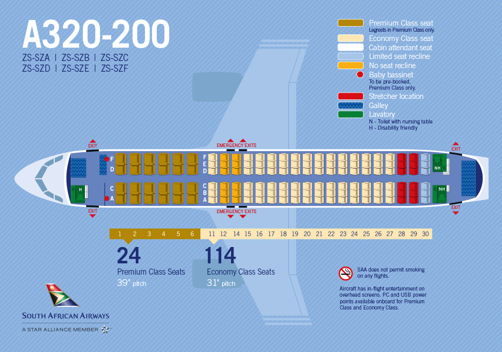 South african airways for Interieur airbus a340 600